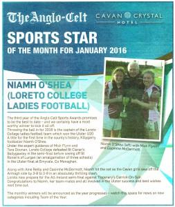 Congrats to Niamh O'Shea