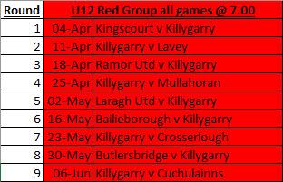 U12 Boys – Laragh v Killygarry
