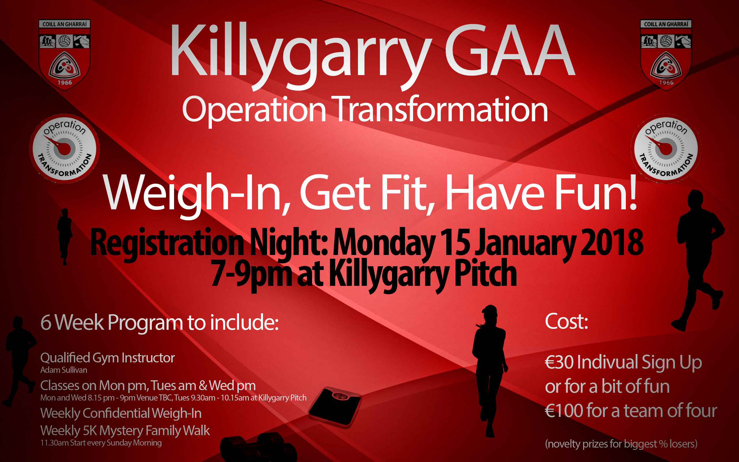 6 Week Program – Killygarry GAA Operation Transformation
