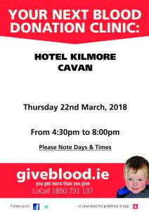 Blood Donation Clinic Cavan