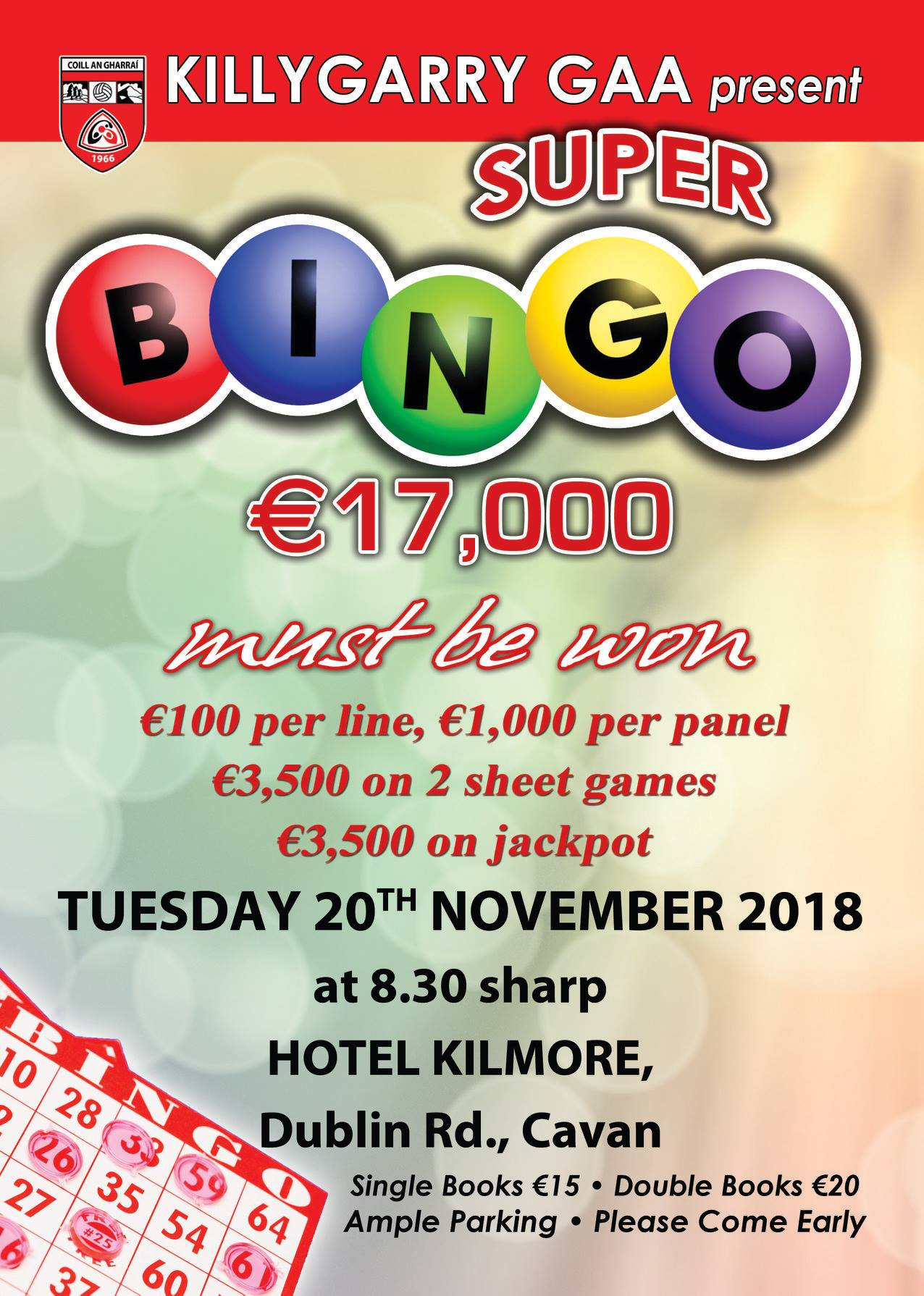Killygarry Super Bingo